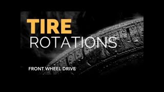 How to rotate FWD tires