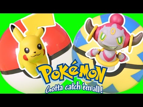 Pokemon Clip and Carry Poke Ball Belt Pikachu and Hoopa Confined Prepare for Battle Poke Balls