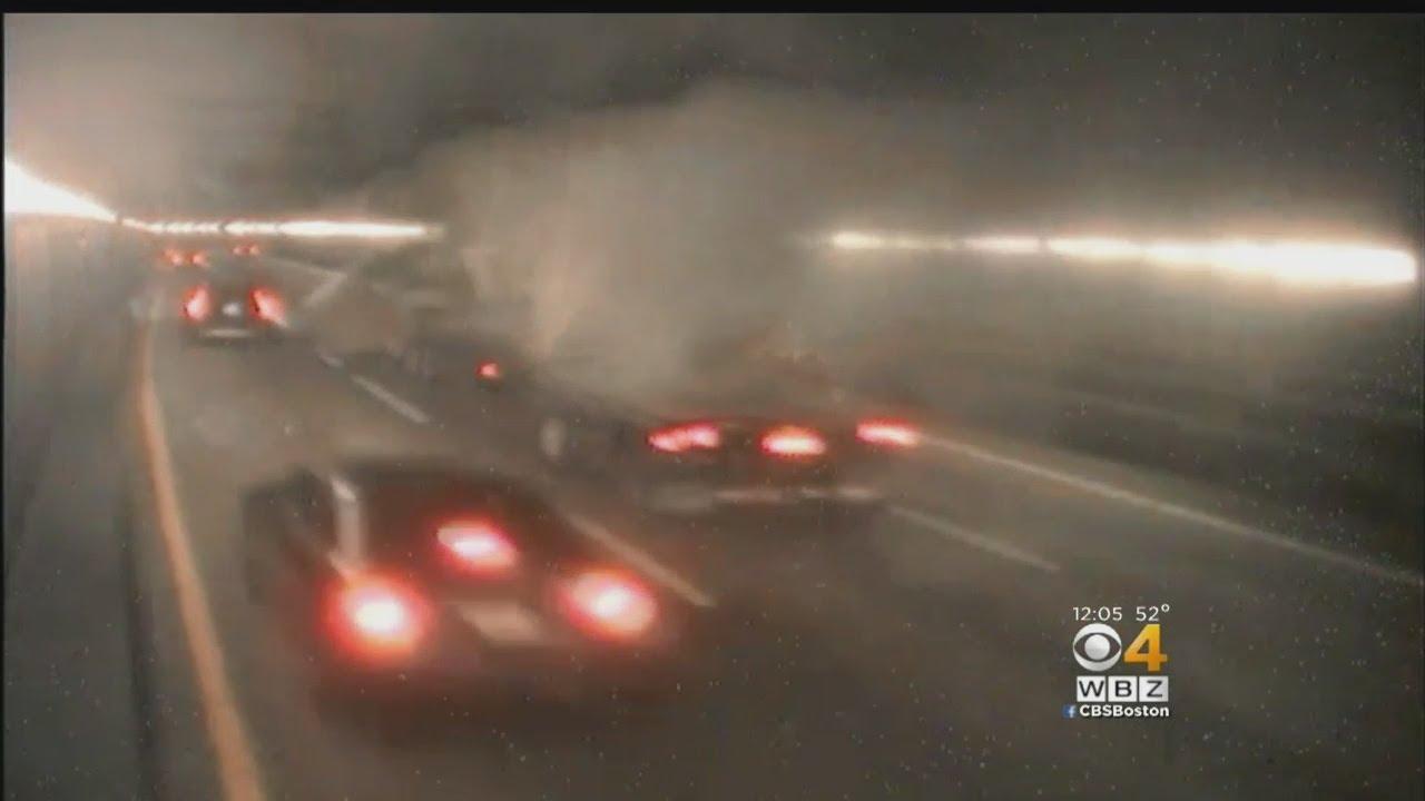 O'Neill Tunnel Truck Crash Causes Massive Traffic Gridlock On I-93 South