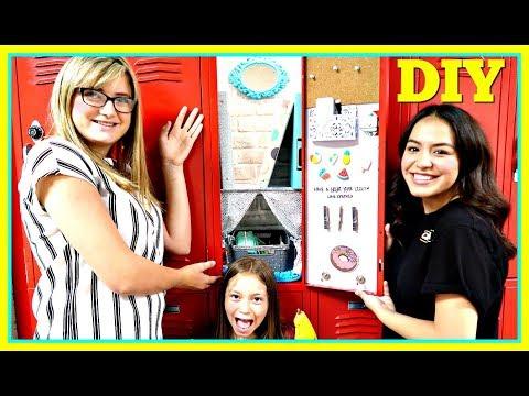 BACK TO SCHOOL DIY LOCKER DECOR! | SCHOOL HACKS!