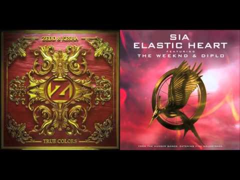 Zedd, Kesha - True Colors vs. Sia - Elastic Heart Mashup