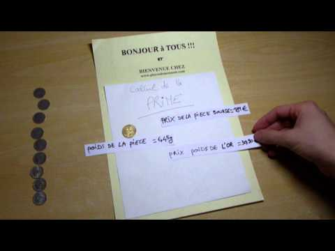 Le calcul de la prime d'une pièce en Or