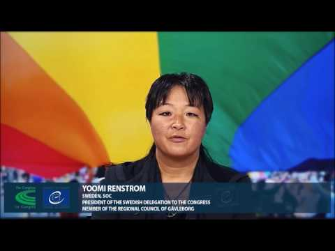 « Come out for Human Rights »: Yoomi Renstrom, President of the Swedish delegation to the Congress