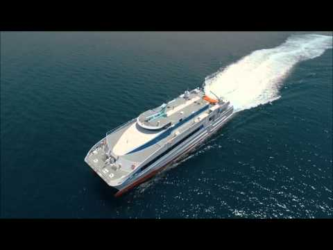 Austal Crew Transfer 45m - Sea Trial Footage of 'Ghagha1' August 2015 (HD)
