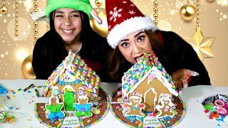 One Hand Challenge Christmas Gingerbread House!!B2cutecupcakes