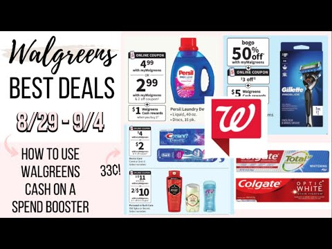 BEST WALGREENS DEALS (8/29-9/4) + BOOSTER SCENARIOS / HOW TO USE WALGREENS CASH ON A SPEND BOOSTER!