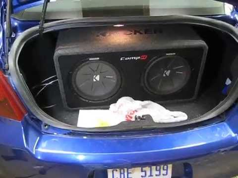 "Initial 12"" Kicker Comp-R Sub install in a 2012 Dodge Avenger - 2014 Ray Install 001 - YouTube"