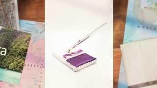Свадебная ручка с подставкой Gilliann Violetta PEN022