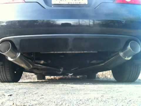 2009 altima coupe topspeedpro1 catback exhaust youtube