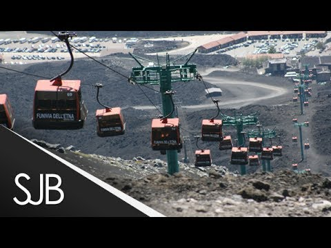 Mount Etna Cable Car Italy 2014 Youtube