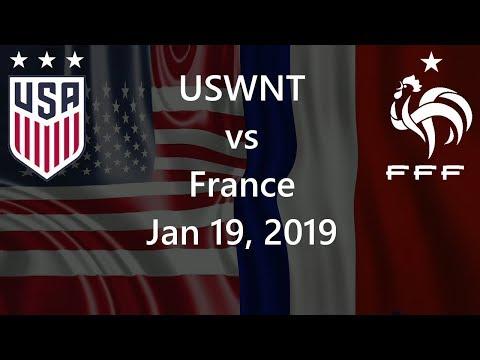 USWNT vs  France January 19, 2019