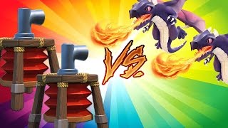 Clash of Clans All Dragons vs Air Sweeper Bases! Champions League Live Attacks!