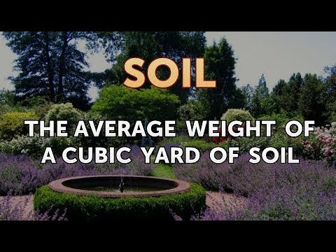 What does a cubic yard of dirt weigh