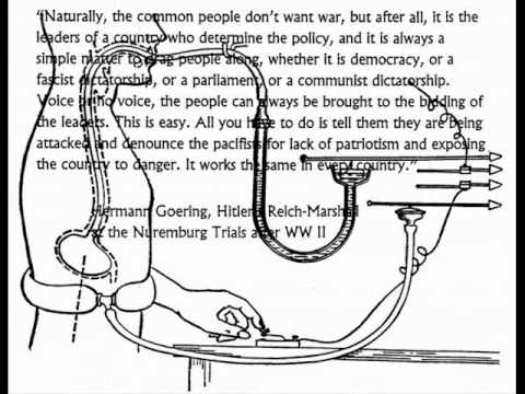 The War Machine - Hermann Goering interviewed on how the people are led to war.