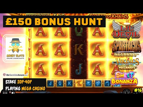 £150 Slots Bonus Hunt - Low Stakes, some Megaways, a great selection.