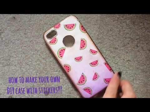 new product 34cd0 a5fcf How to make DIY phone case with STICKERS!!!