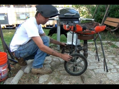 Build an Easy Blacksmith Forge - Out of a Lawnmower - YouTube