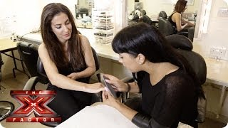 Master the gel nail technique with Julia Carta - X Factor Make Up Room - The X Factor UK 2013