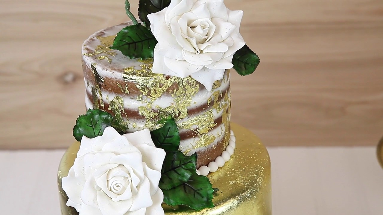 How To Use Gold Leaf On A Cake Sneak Peak Global Sugar Art Youtube