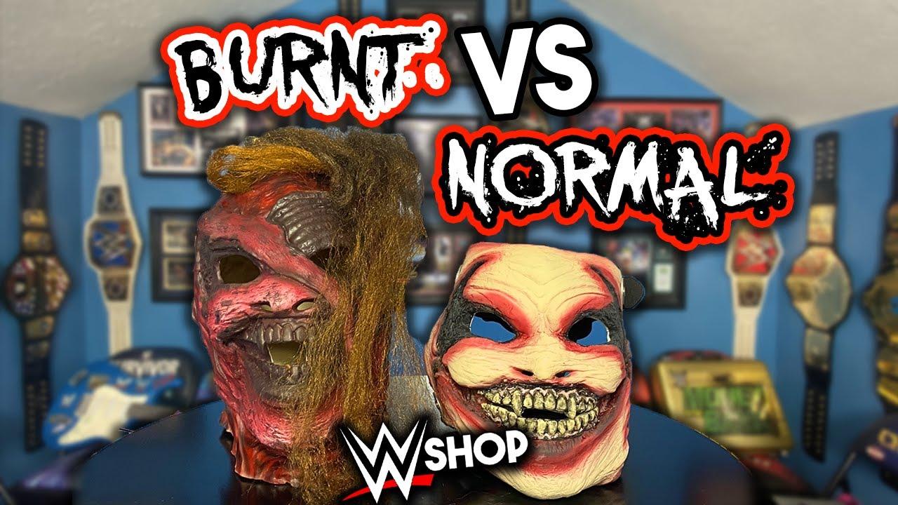 The Fiend Burnt Deluxe Replica Mask Vs Regular Deluxe Replica Mask! | WWEShop Reviews