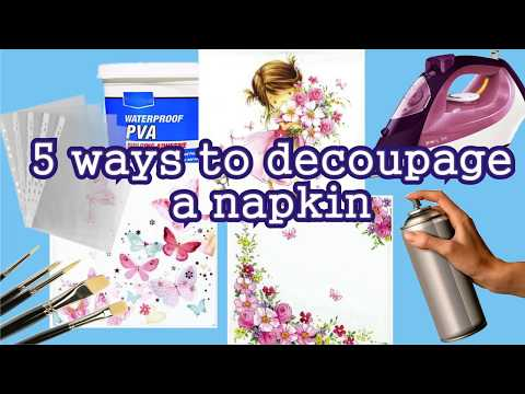 5 ways to decoupage a napkin. DIY for beginners