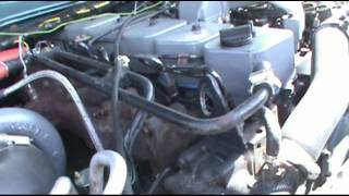 95 Chevy Suburban with a cummins 12 valve installed.mp4