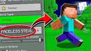 Do NOT Use the FACELESS STEVE Seed in MINECRAFT!