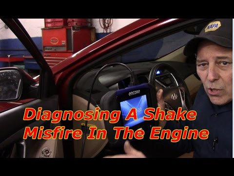 How to diagnose a intermittent shake in the engine when accelerating