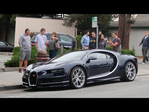 THE MEGA RICH TAKE OVER MONTEREY IN THEIR $4,000,000 BUGATTI CHIRON