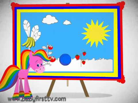 Rainbow Horse Intro My World Of Colors At Babyfirsttv