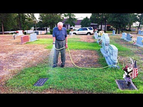 видео: Старик каждый день поливал траву на могиле жены, но потом увидел плачущую девушку и сделал это...
