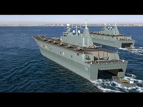 Australia's HMAS Canberra & HMAS Adelaide LHD Navy Ships Construction Part 2