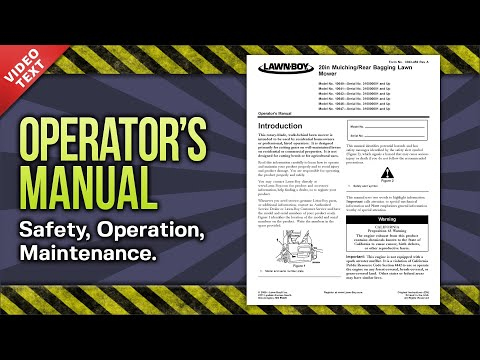Operator S Manual Lawn Boy 20in Mulching Rear Bagging Lawn Mower 3363 456