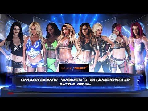 WWE 2K18 SMACKDOWN LIVE WOMEN'S CHAMPIONSHIP 8 WOMEN'S BATTLE ROYAL