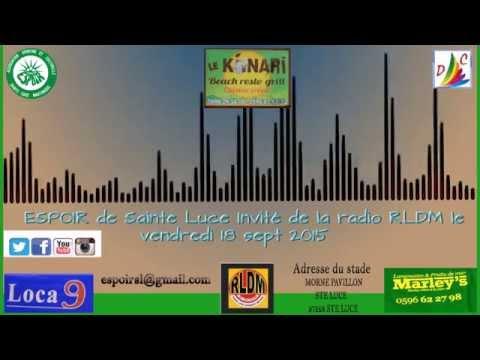 Club Espoir dans une Emission sur radio RLDM Martinique le 18 sept 2015