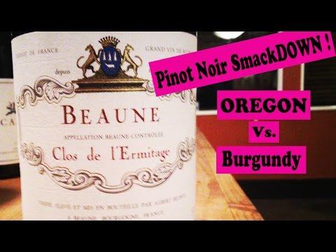 Oregon vs Burgundy Pinot Noir Tasting Rating Review 2012 OR vs 09 Burgundy