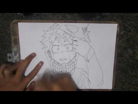 Speed drawing - Midoriya Izuku (Boku no hero academia)