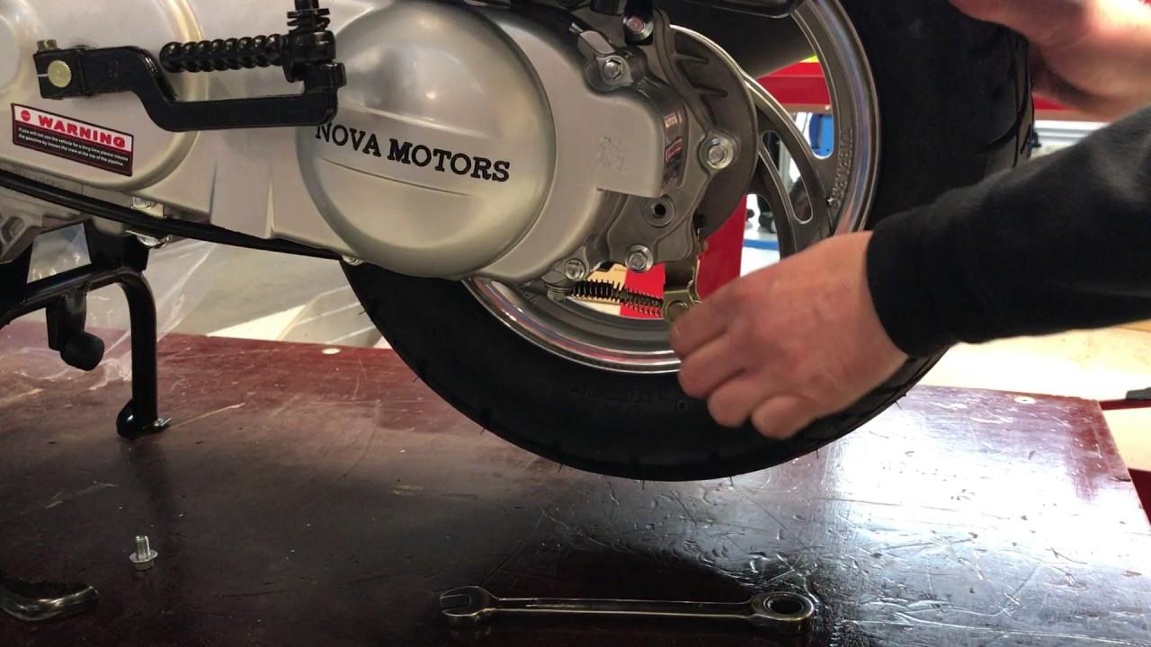 Www Nova Motors De Hilfe Motorroller Trommelbremse Einstellen