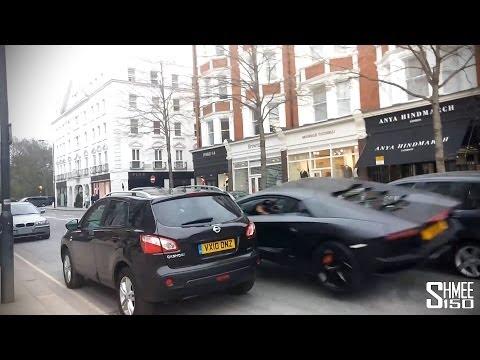 Watch a Lamborghini Aventador Go Airborne in London Crash
