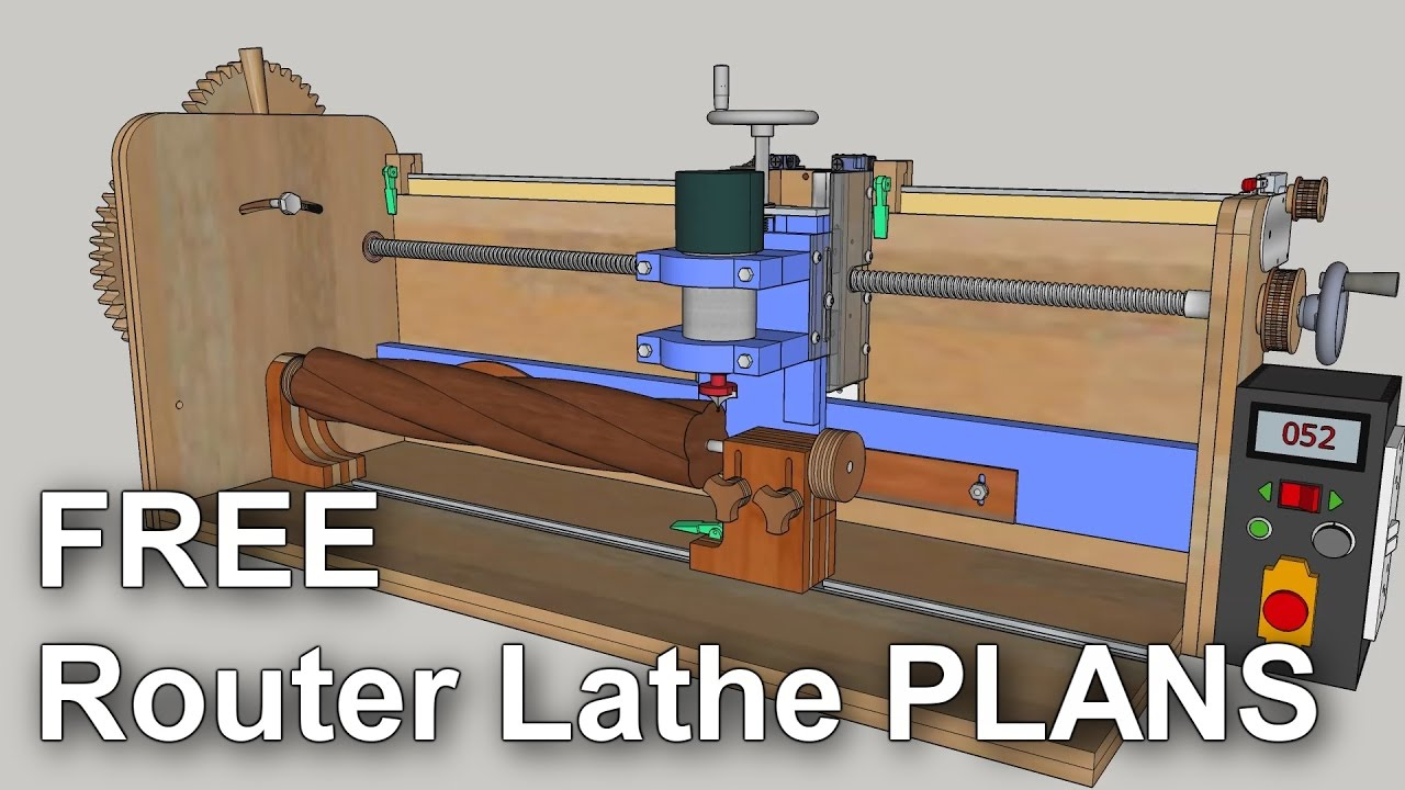 Router Mill Lathe Plans Updated Youtube