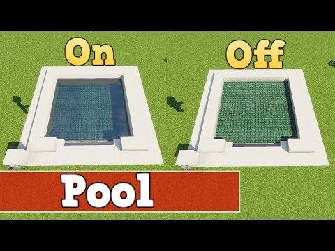 Wie baut man einen funktionierenden Pool in Minecraft | Minecraft Pool Bauen Deutsch Tutorial