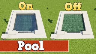 Wie baut man einen funktionierenden Pool in Minecraft | Minecraft Pool Bauen Deutsch Tutorial