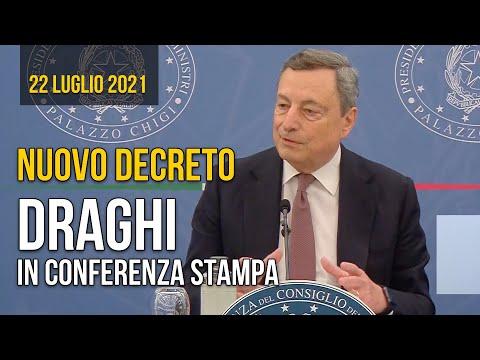 Green Pass, conferenza stampa di Mario Draghi con ministri Speranza e Cartabia