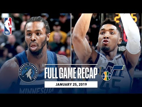 Full Game Recap: Timberwolves vs Jazz | Mitchell and Gobert Record Double-Doubles