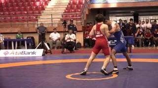 AWFCUP / David Chkhartishvili (GEO) - Nofel Babayev (AZE) GR juniors 55 kg final
