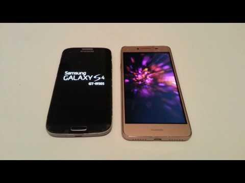 Samsung Galaxy S4 Vs Huawei Y5 II Startup Test
