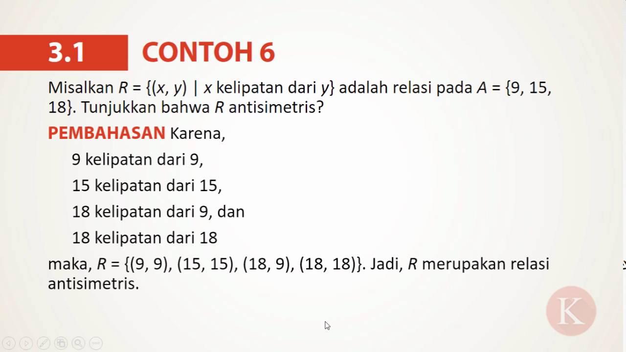 31 contoh 6 relasi antisimetris youtube 31 contoh 6 relasi antisimetris ccuart Gallery