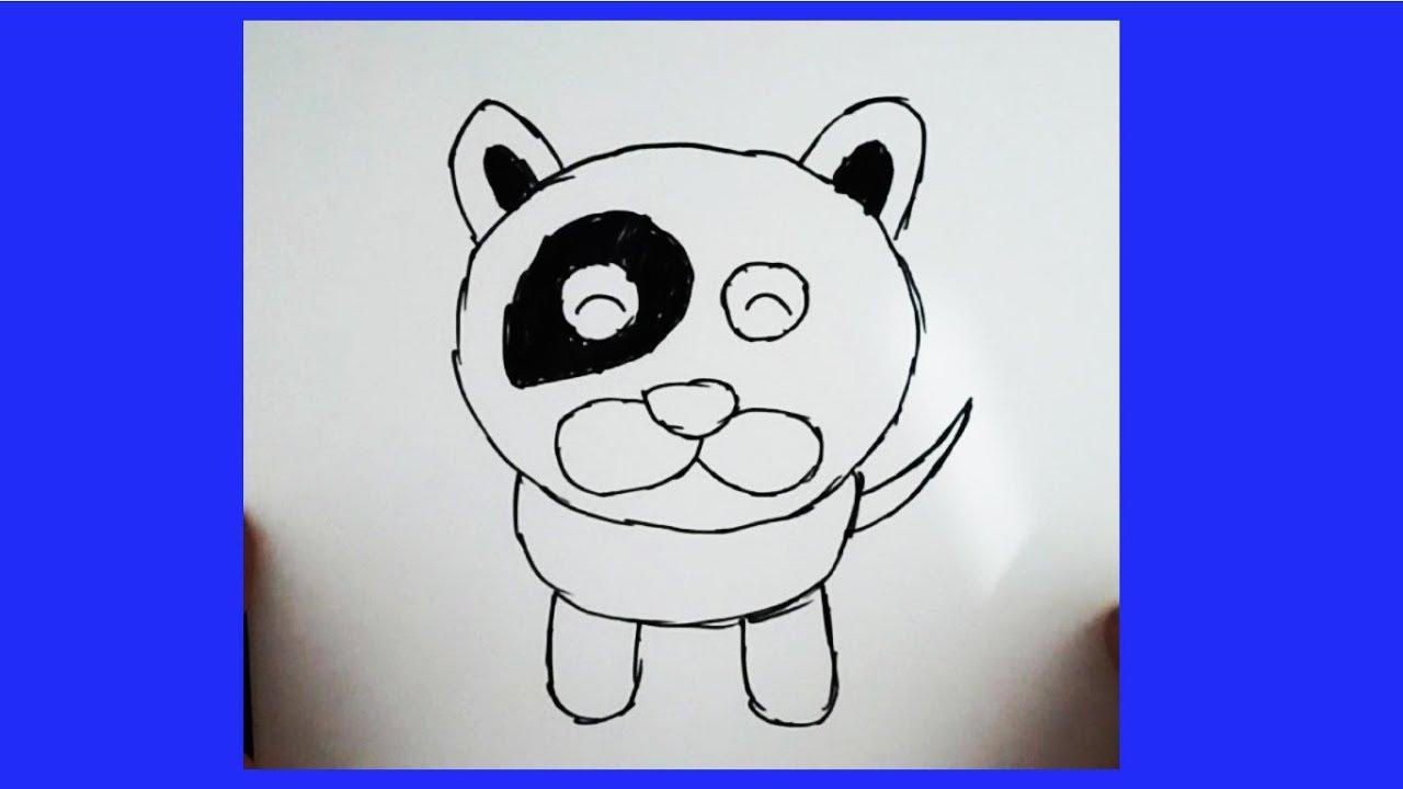 Sevimli Köpek çizimi Kolay Hayvan çizimi Youtube