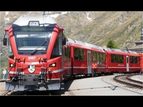 Trains à travers la Suisse