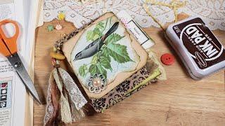 Bird Themed Stuffed Ephemera Bag / Pen Pal Letter